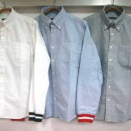 FABRIC MIX WORK POCKET REGULAR COLLAR SHIRT