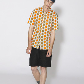 MARNI - 2012s/s Circle Dot Shirts (Orange × Beige)