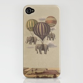 Terry Fan - Flight of the Elephants  iPhone Case
