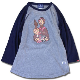 HEADGOONIE - WENDELL THE RIPPER 3/4SLEEVE RAGLAN T-shirts