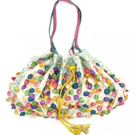 MOYNA - silk bag  with beaded shells 1