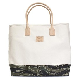 HERITAGE LEATHER CO. - Natural/TIGER CAMO Tote Bag