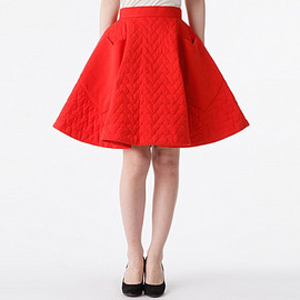 G.V.G.V. - HEART QUILTED FLARE SKIRT