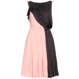 Nina Ricci - TWO-TONE DRESS WITH DRAPE DETAIL