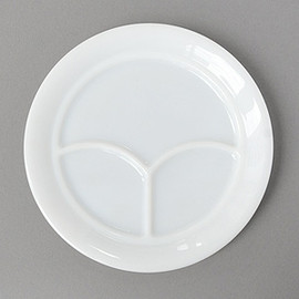 Fire King - Restaurant ware White 3 compartment plate