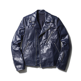 SOPHNET. - RIDERS JACKET/navy