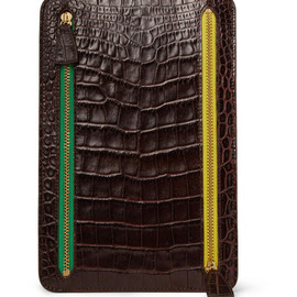 Smythson - Crocodile-Embossed Multi-Currency Wallet