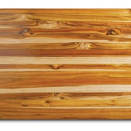 Proteak - Proteak Teak Cutting Board Rectangle Edge Grain with Hand Grip, 24-Inch by18-Inch by 1-1/2-Inch