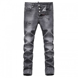 DSQUARED2 - Dsquared2 SS2018 Mens Long Jeans Caten Graffite Holes Grey