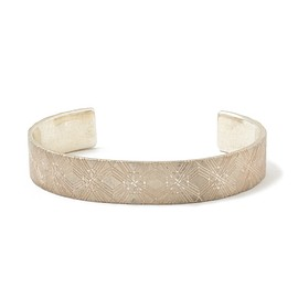 White Mountaineering - Marquetery Pattern Silver Bangle