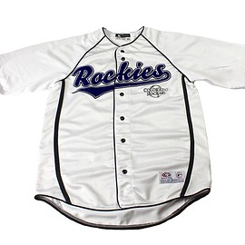 MLB - Colorado Rockies White MLB Jersey Mens Size Medium