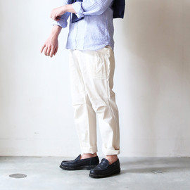 """A VONTADE - 別注""""Fatigue Trousers""""(White)"""