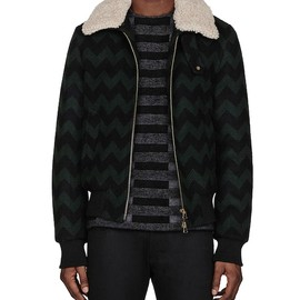 ami - ami chevron jacket AMI CHEVRON JACKET | SSENSE SALE
