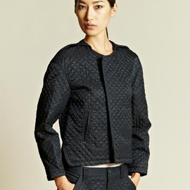 Blackmeans - Blackmeans Women's Quilted Line Stitch Jacket