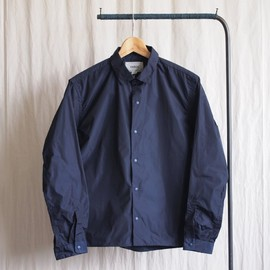 YAECA - Comfort Shirt Wide Square #navy