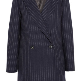 Title A - Chesterfield pinstriped wool coat
