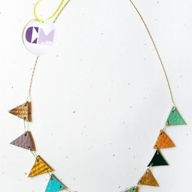 Multi-color Flag Necklace