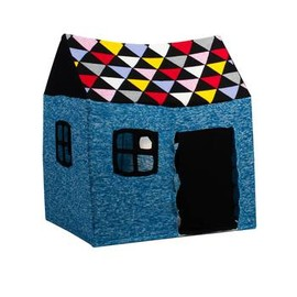 LUCKY BOY SUNDAY - CABANE knitted hut and frame / BLUE
