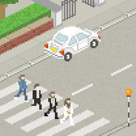 Penney Design - The Beatles Pixel Art / Abbey Road