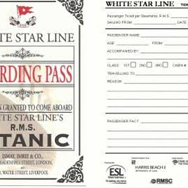 MS Titanic - Bording pass