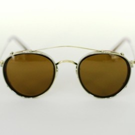 OLIVER PEOPLES - MP-2 with Flip Clip in Garnett Red with Brown Clip