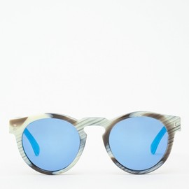 Illesteva - Mirrored Leonard in Horn/Blue