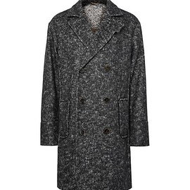 Berluti - Oversized Double-Breasted Herringbone Felt Coat