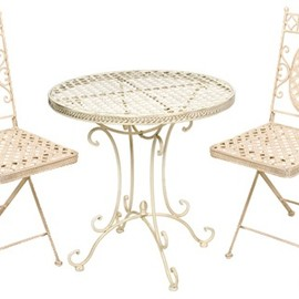Jonart Design - Jonart Café Cream 70cm Round Table & Folding Chairs