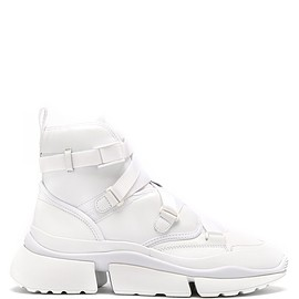 Chloé - Sonnie raised-sole high-top trainers
