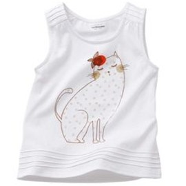 cutie cat sleeveless tee