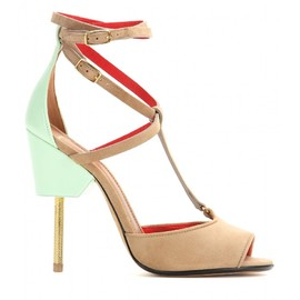 GIVENCHY - FW2014 120MM MARZIA SUEDE & LEATHER SANDALS