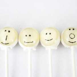 VintageConfections - Emoticons edible images hard candy lollipop