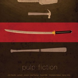 Quentin Tarantino - Pulp Fiction Tribute Print