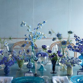 blue table and decor