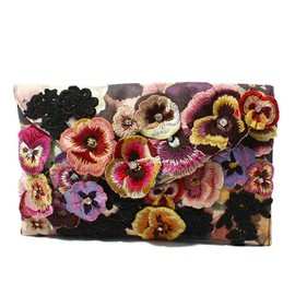 アクセサライズ - All Over Pansy & Lace Envelope Clutch