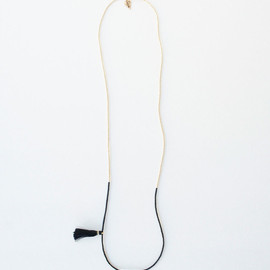 ACE COMMUNE - 2 Tone Long Necklace with Tassel