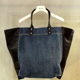 UNDERCOVER - I6B01-1 DENIM×LEATHER TOTE BAG