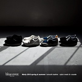 blueover - blue over ブルーオーバー Marty smooth leather マーティ スムース レザー nylon & v.suede ナイロン スエード