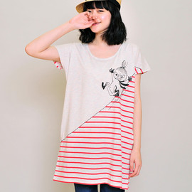 graniph - Moomin Round Neck Short Sleeve One-Piece(Sliding Little My)