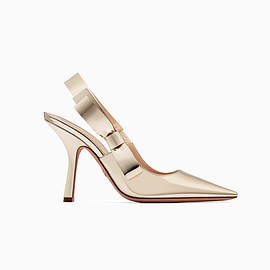 "Christian Dior - SS2018 ""Dior Sweet-D"" high-heeled shoe in gold-tone mirror calfskin"