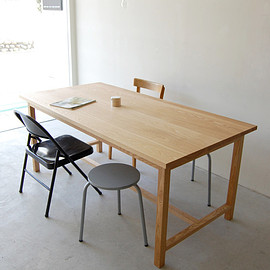 NAUT - 098 | 01_Resize standard furniture Frame table wt : W1,700 D850 H720 / Solid ash oil finis