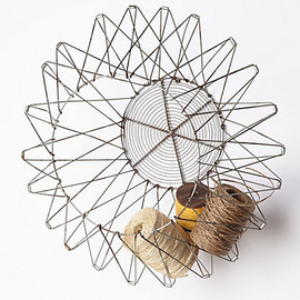 Anthropologie - Handcrafted Accordion Basket