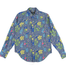 ENGINEERED GARMENTS - Western Shirt-Floral Printed-Chambray