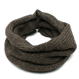 BEAMS - KNIT SNOOD BROWN