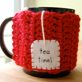 Kate Reiser - Tea Time Mug Cozy Cherry Red Chai Cup Cosy