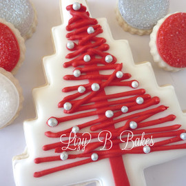 Homespun Christmas Tree Cookie - ooooooooooooo... pretty!