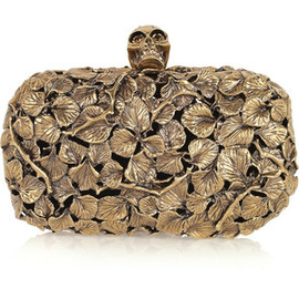 Alexander McQueen  - Engraved leaf and thorn box clutch