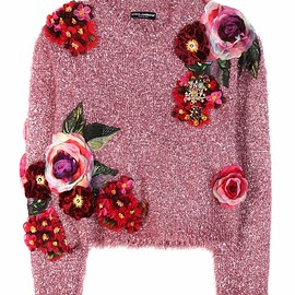 DOLCE&GABBANA - Metallic sweater with appliqué
