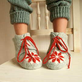 FeltStream - Handmade felted Organic Eco Kids shoes