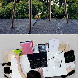 Design Studio Etc.Etc. - desk with a gutter